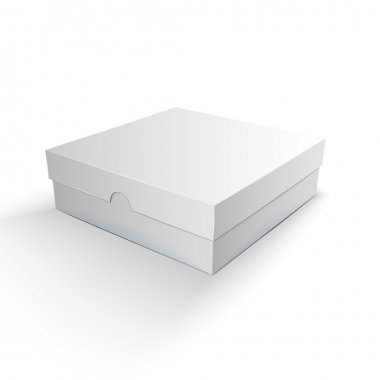 White Product Package Box Illustration Isolated On White Backgro