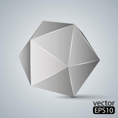 Illustration of geometric figure. Icosahedron