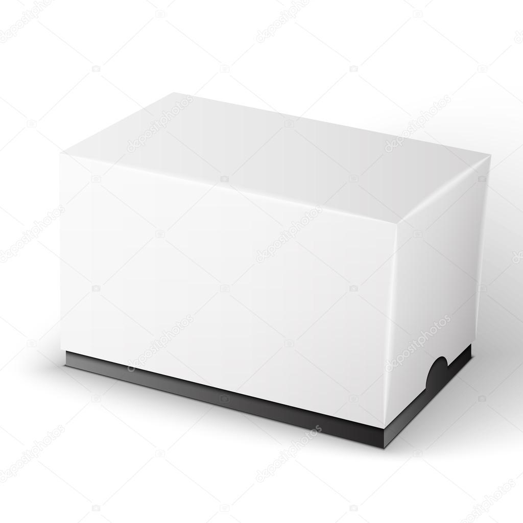 白 Backgro に分離された白色の製品パッケージ ボックス イラスト