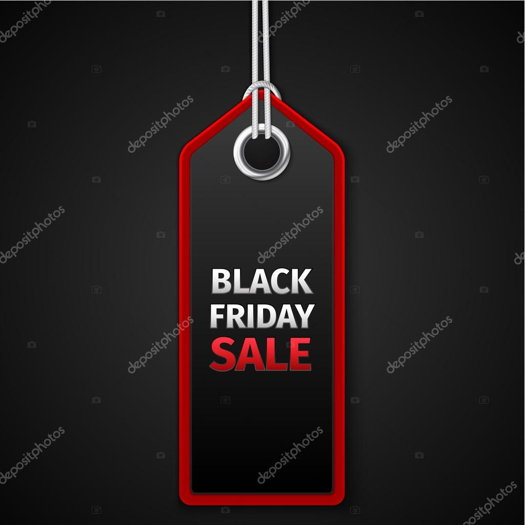 Black Friday sales tag. EPS 10 vector