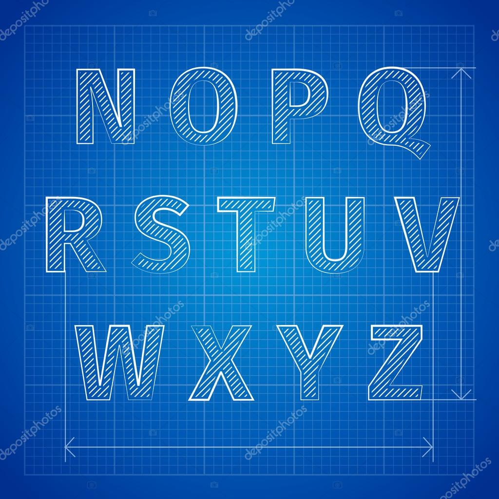 Blueprint font stock vector netkoff 60891433 blueprint font stock vector malvernweather Image collections