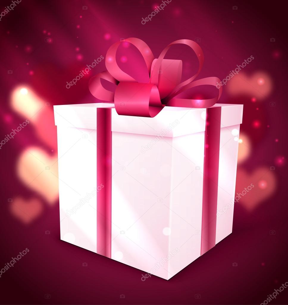 Gift Box Valentine Background Stock Vector Netkoff 63188215