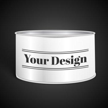 White Blank Tincan Metal Tin Can, Canned Food