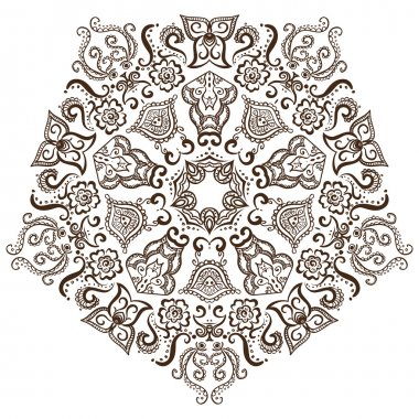 circular pattern of indian