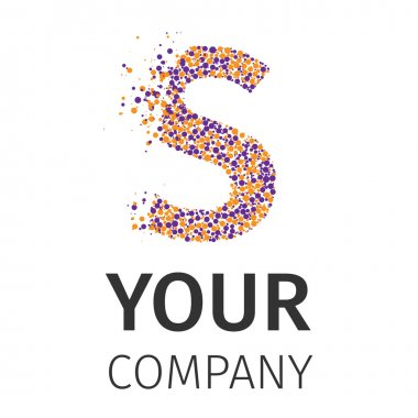 Alphabet particles logotype, Letter-S