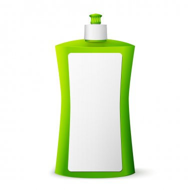 Green blank dish washing liquid package