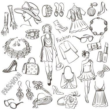 Hand drawn Fashion illustration
