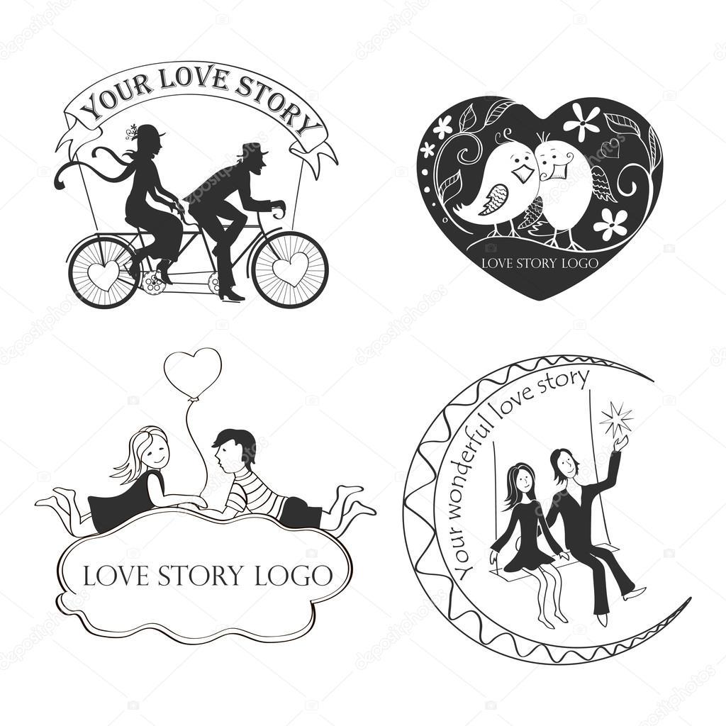 love story logo symbol for your design stock vector netkoff GS Symbol love story logo symbol for your design stock vector