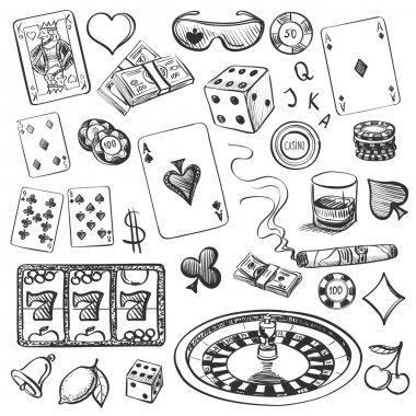 Hand drawn Casino Collection
