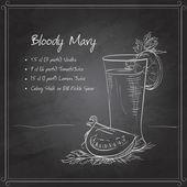 Fényképek Bloody Mary fekete táblán