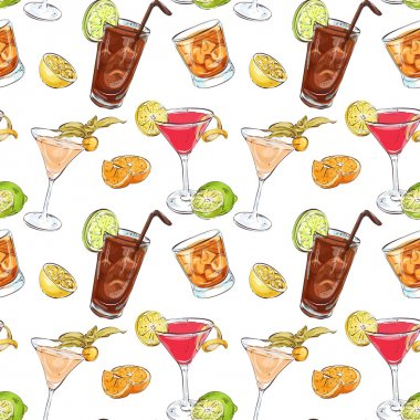 Color pattern contemporary classics cocktails