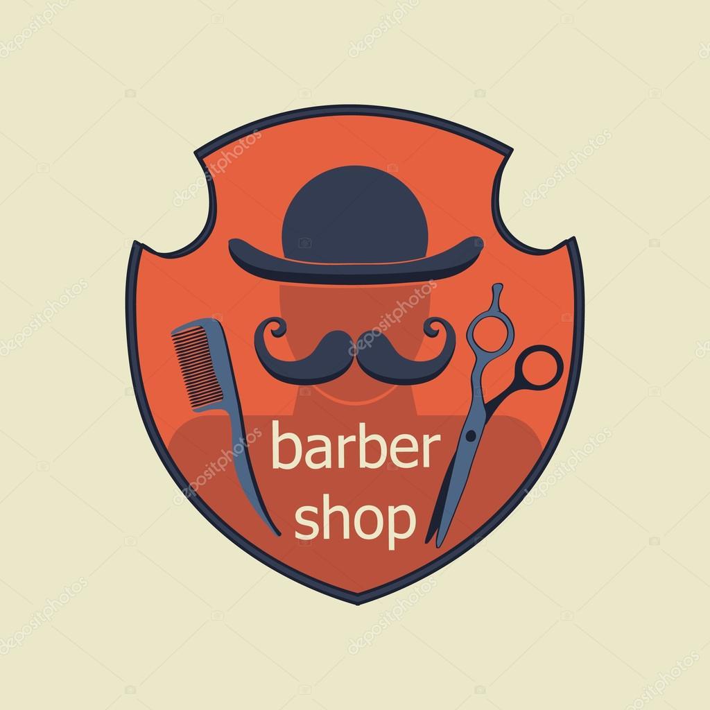 Vintage Barber Shop Label