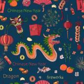 Fotografie Nahtlose Muster der Chinese New Year