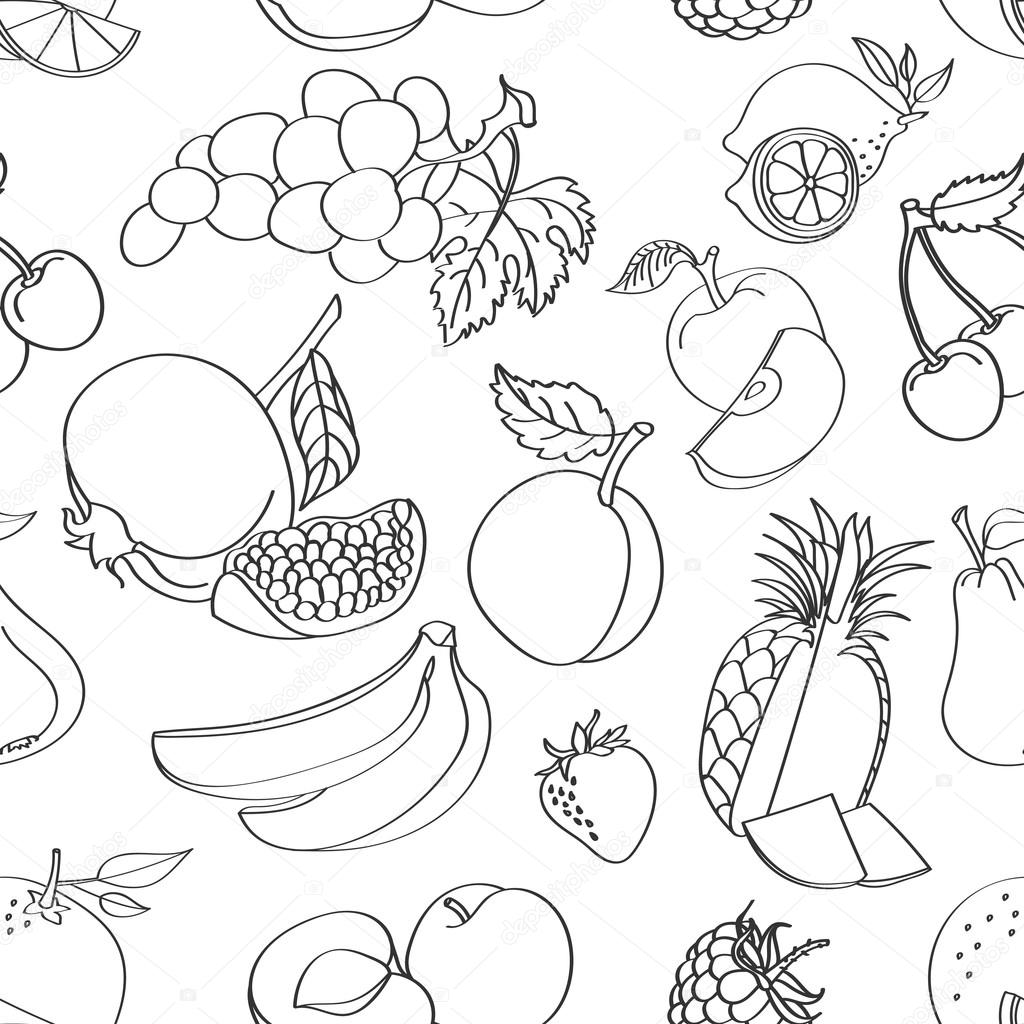 Gekritzel Muster Obst — Stockvektor © Netkoff #97749866