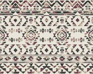 Native Americans pattern with camouflage texture
