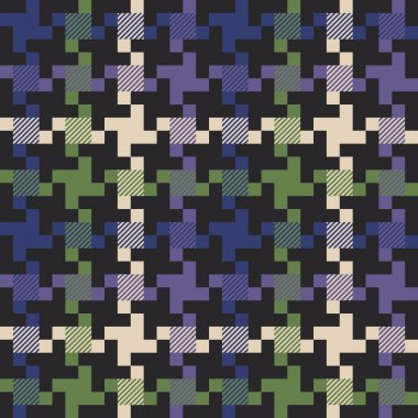Multi colored houndstooth fabric