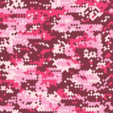 Camouflage pink  houndstooth