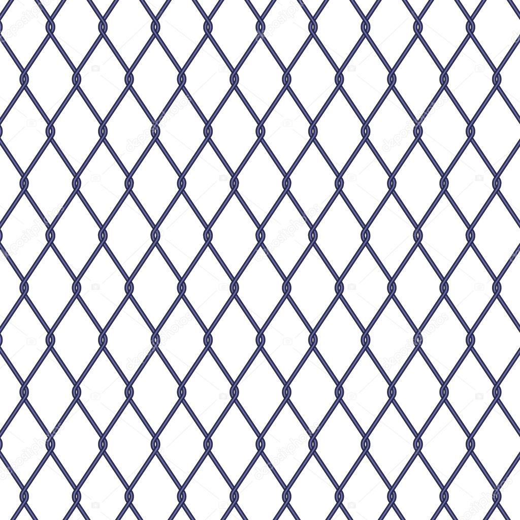 Wire fence on white background — Stock Vector © nalinrat #117950366