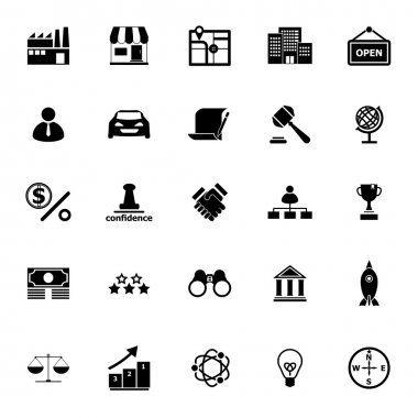Franchise icons on white background, stock vector stock vector