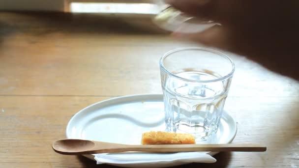 Kávészünet, forró tejeskávé, Stock videóinak