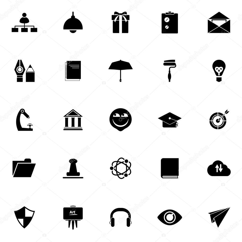 Trabajo reanudar los iconos sobre fondo blanco — Vector de stock ...