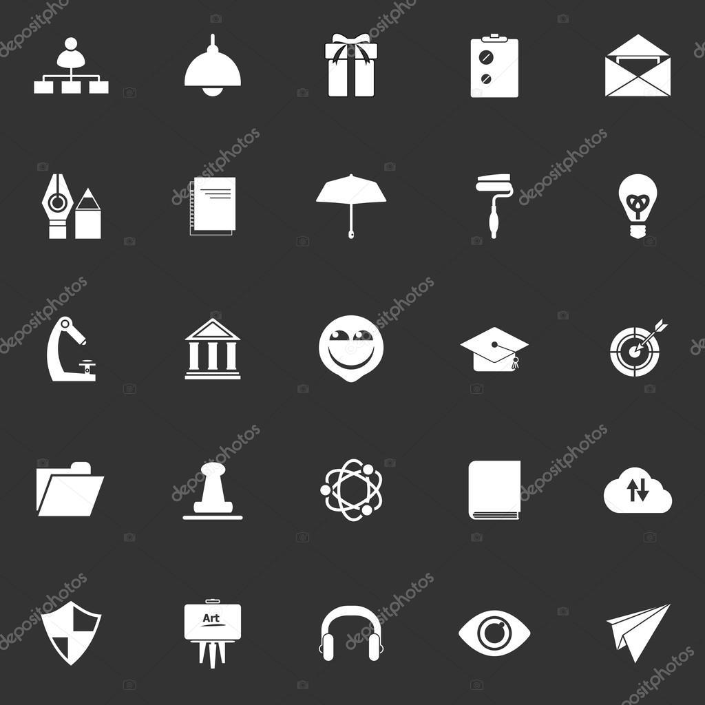Trabajo reanudar los iconos sobre fondo gris blanco — Vector de ...