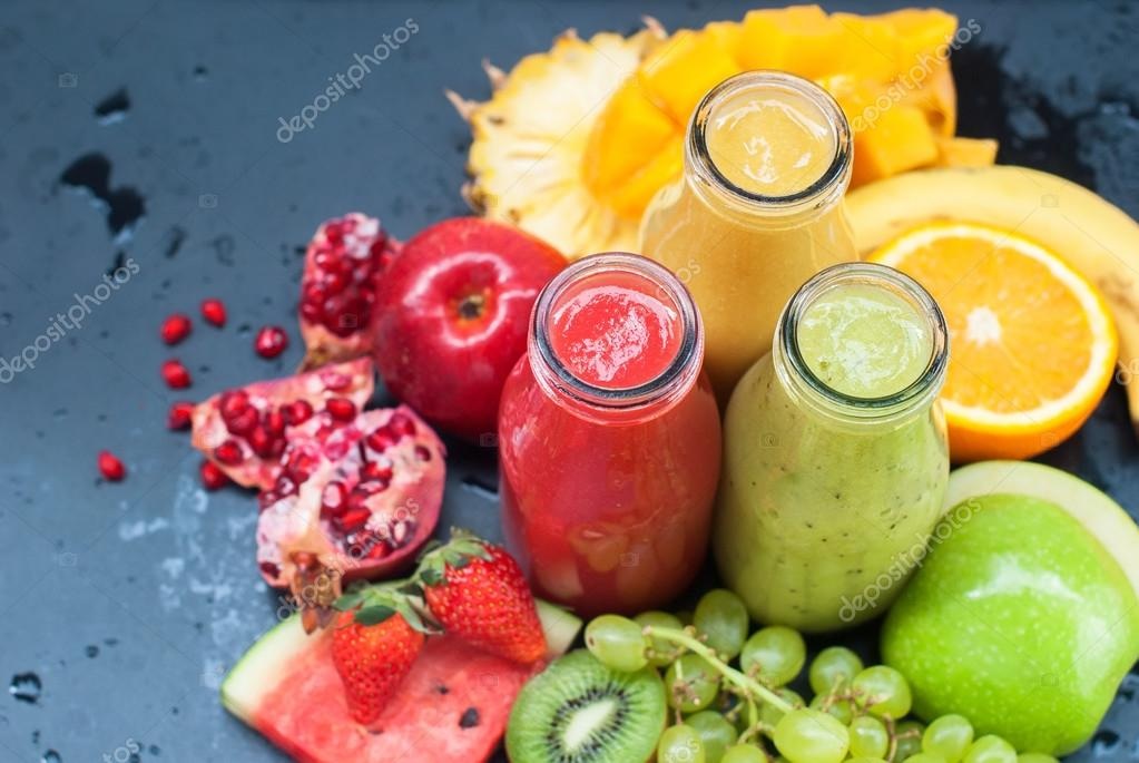 Juices Smoothie Red Green Orange Tropical Fruit