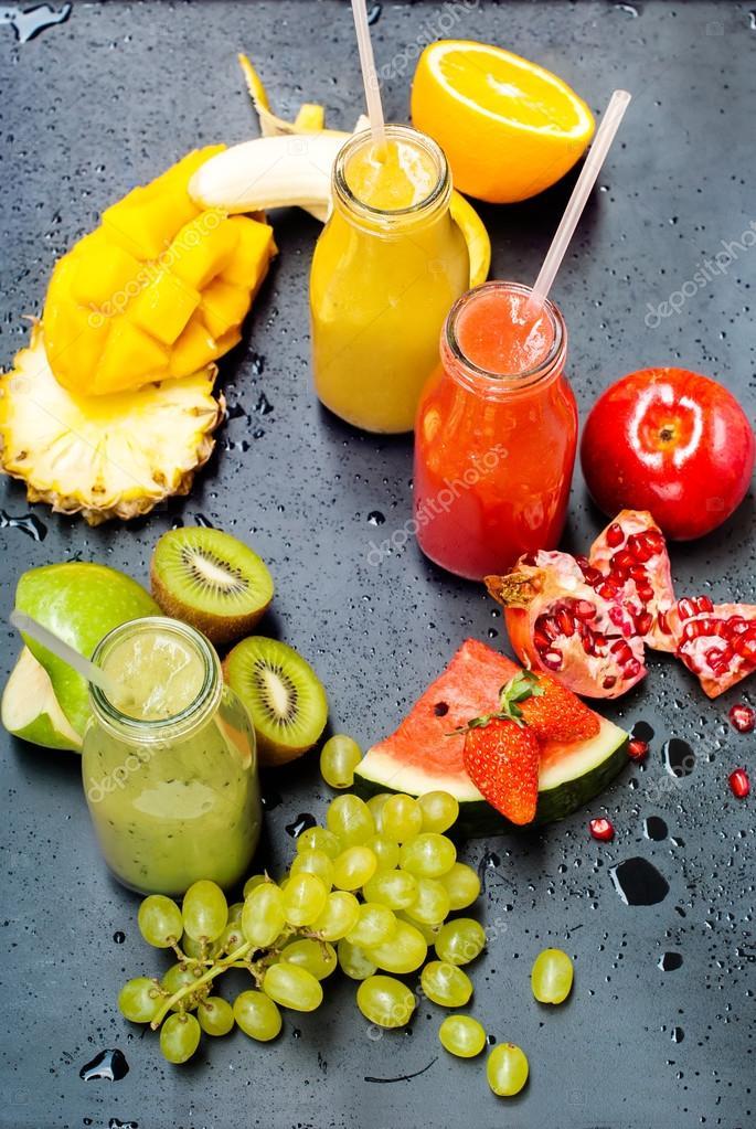 Color Fresh Juices Smoothie Healthy Beverage