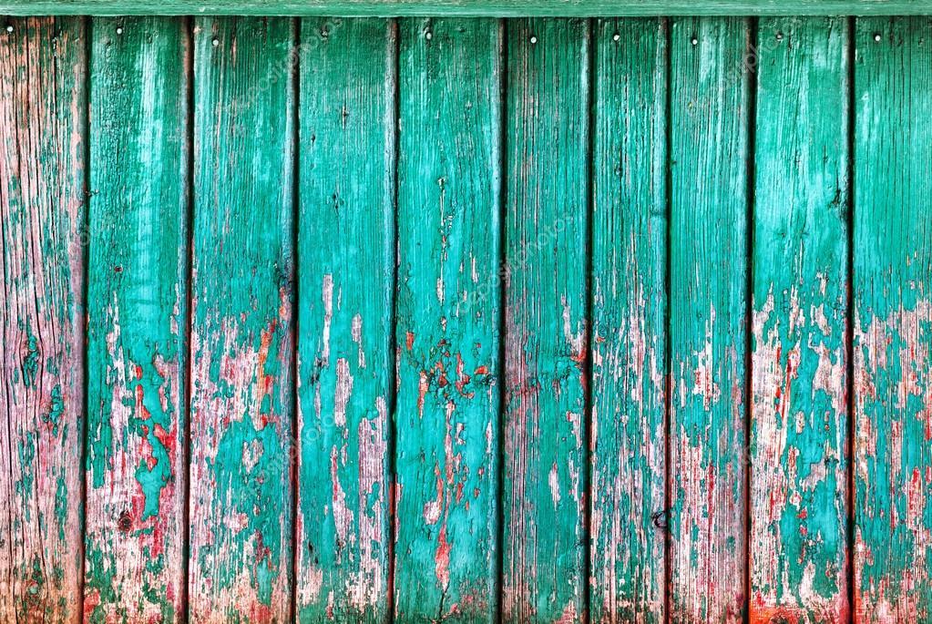 Colori Vernici Legno : Squallido plance di legno turchese con cracking colore vernice legno