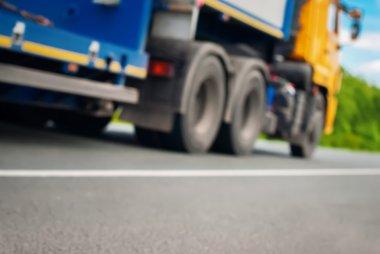 Truck on Road Transportation Defocused Background