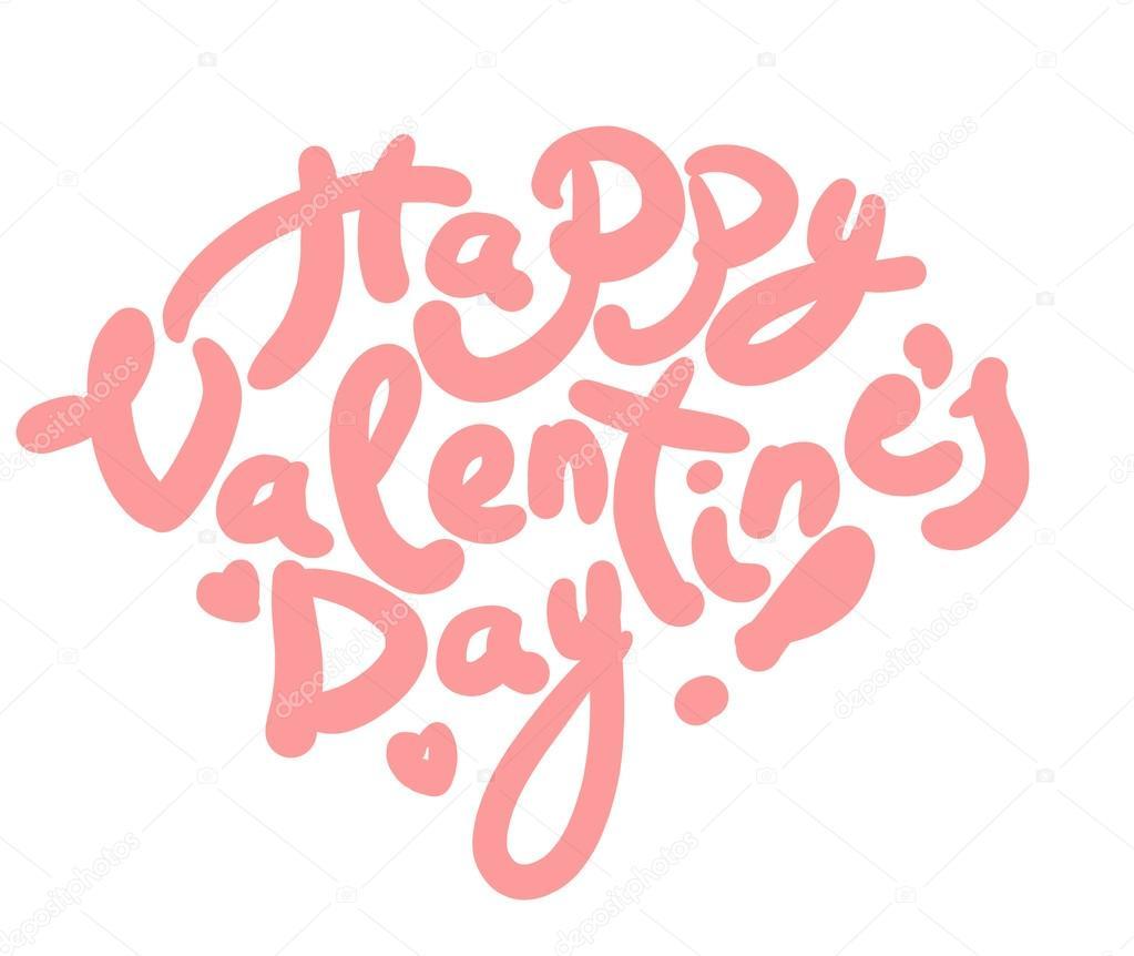 Letras De Feliz Día De San Valentín En Forma De Corazón Ilustración