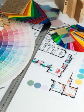 Selection of colors and materials for home renovation