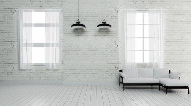 Industrial interior lighting 3d rendering image