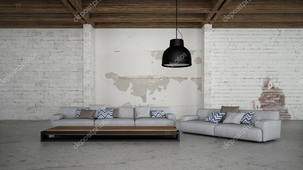 Immagine di rendering 3d industriale illuminazione interni u2014 foto