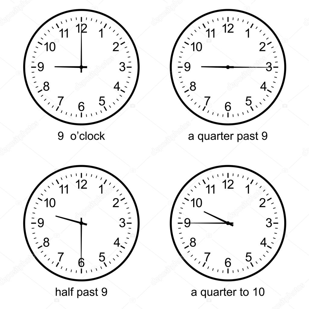 worksheet Learn To Tell Time learning time clock set vector stock attaphongw 111013768 image of early learn to tell wall by attaphongw
