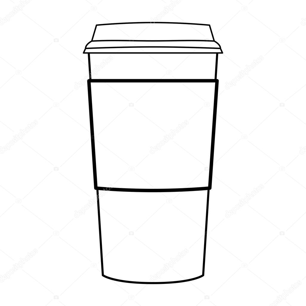 Animal Coffee Mugs Paper Coffee Cup Outline Vector Stock Vector