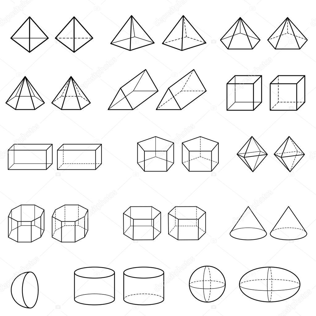 vektor geometrische 3d formen stockvektor attaphongw 64279917. Black Bedroom Furniture Sets. Home Design Ideas