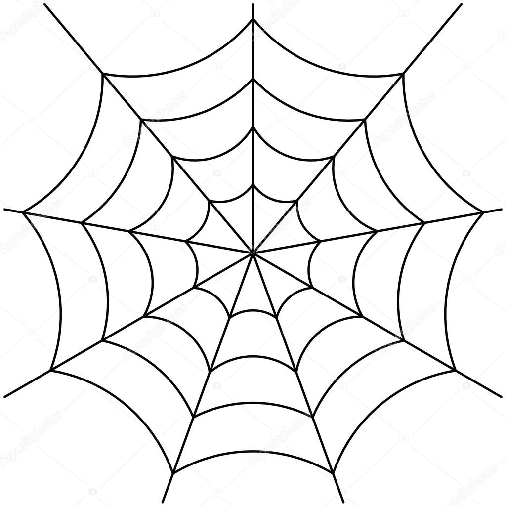 spider web vector stock vector attaphongw 69175917 rh depositphotos com spider web vector free download spider vector