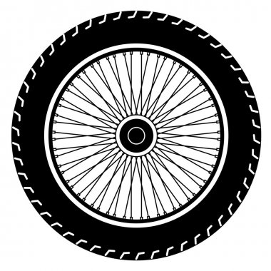 Image of wheel vector isolate on white stock vector