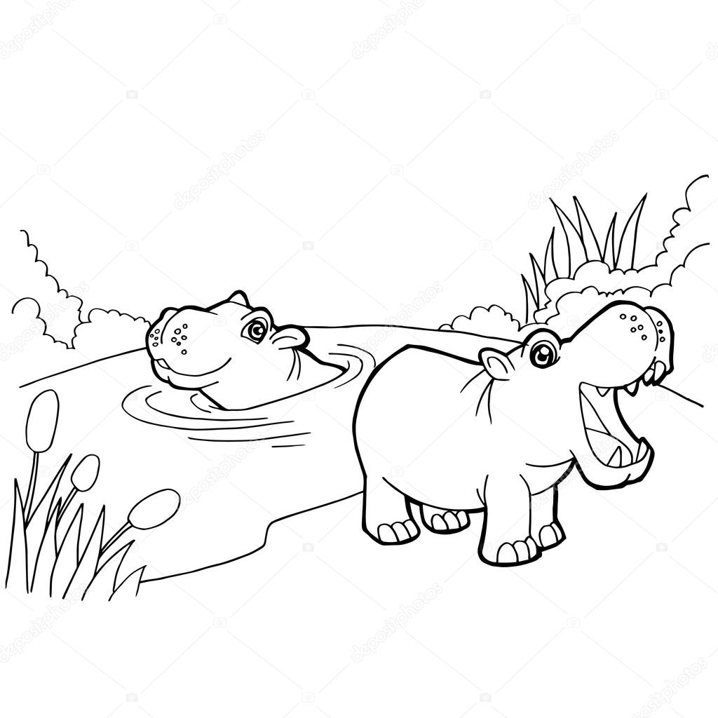 Simba And Hippo coloring page | Free Printable Coloring Pages | 1024x1024