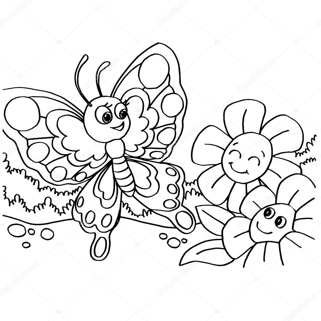 Butterfly Coloring Pages Vector Stock Vector C Attaphongw 82116694