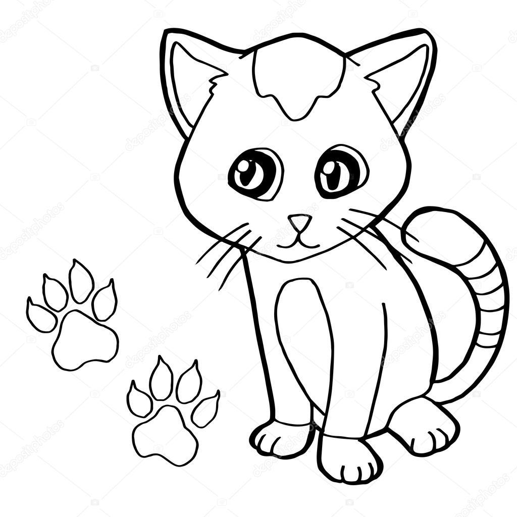łapka Z Kot Kolorowanka Strona Wektor Grafika Wektorowa