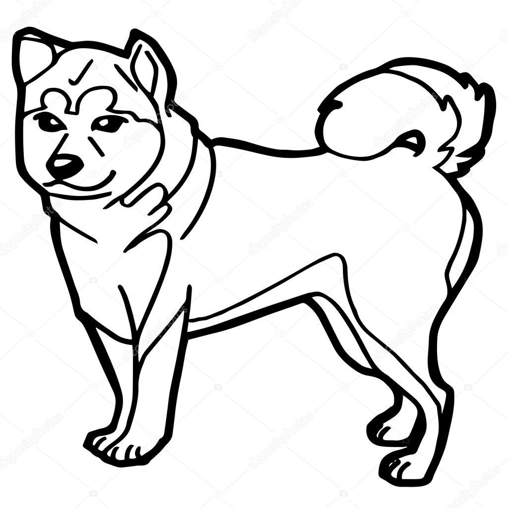 Ilustración De Dibujos Animados De Perros Divertidos Para
