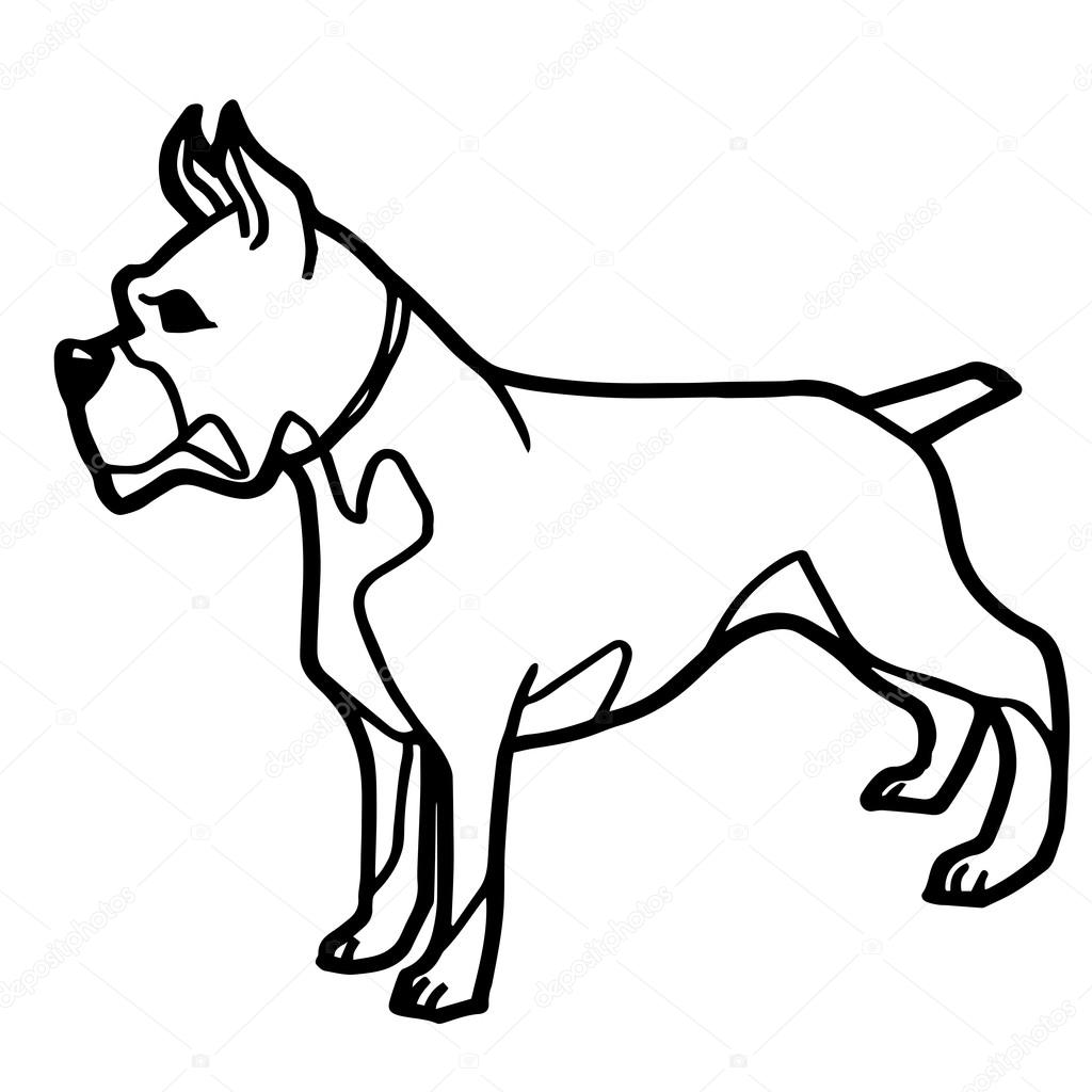 Cartoon Illustration of Funny Dog for Coloring Book — Stock Vector ...