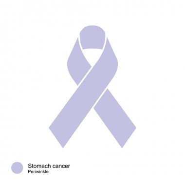 stomach cancer ribbon vector