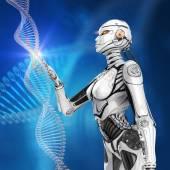 Fényképek Modern kialakítású virtuális emberi DNS-t