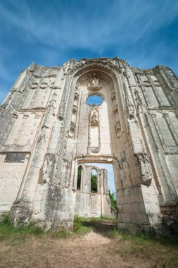 Old church and abbey ruins in the Loire Valley, France,