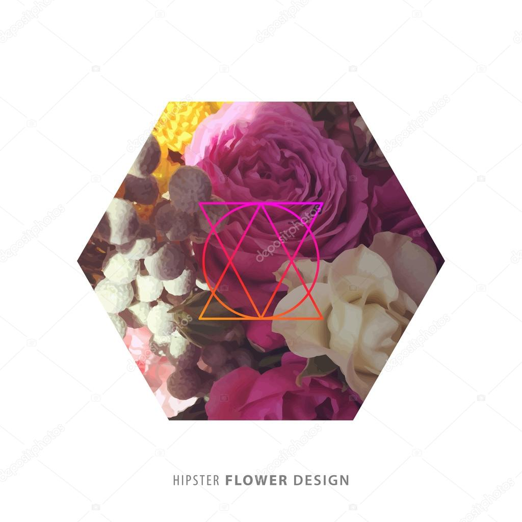 hipster flower designs - HD 1024×1024