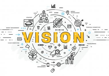 vision  icons and elements