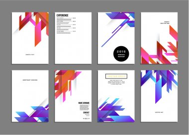 Geometric Vector Backgrounds, set